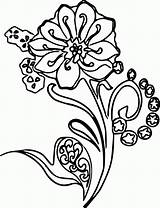 Coloring Abstract Pages Shapes Shape Flower Wecoloringpage Fun Popular Coloringhome sketch template