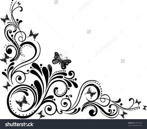floral design stock images similar to id 136521248 butterflies design floral elements isolated on white