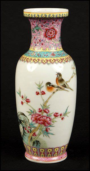 chinese porcelain vase  antique vintage asian