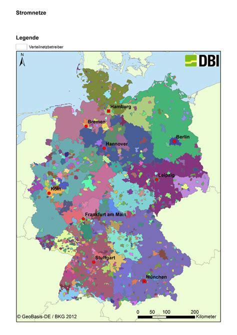 Stromnetz Deutschland Karte
