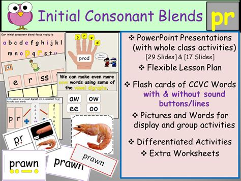 Initial Consonant Blend Pr -ccvc Words
