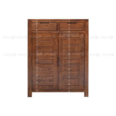 auckland solid wood shoe cabinet walnut