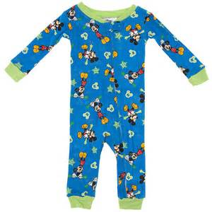 mickey mouse cotton one pajamas for baby boys