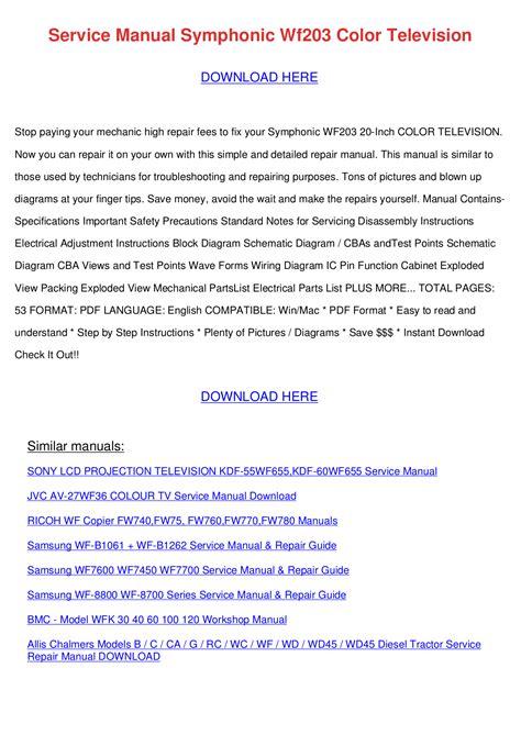 Download freefor Symphonic ST419E TV manual