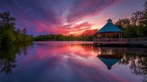 Centennial, Park, In, Milton, Ontario, Canada, Landscape, Nature, Sunset, Dusk, Reflection, Best, Hd, Desktop