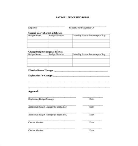 payroll budget templates docs   premium