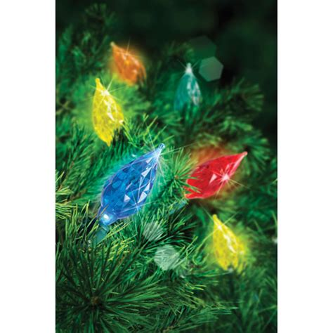 holiday time 60 count led c6 multi color teardrop