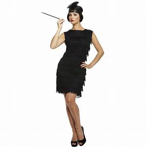 10 12 14 ladies black flapper costume charleston 20s 30s With robe de soirée charleston
