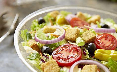 Olive Garden Salads unlimited our house salad lunch dinner menu