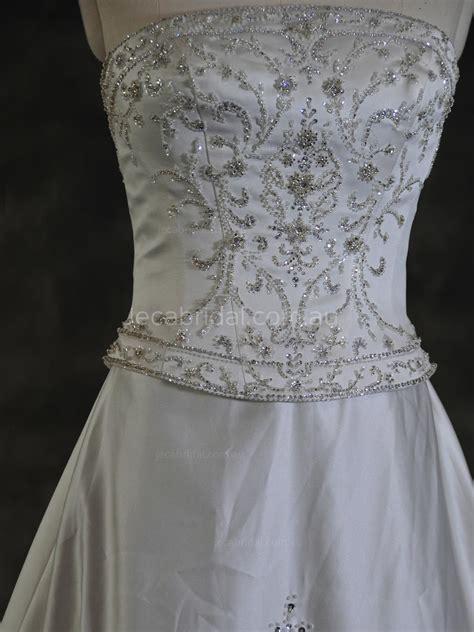 heavily beaded wedding dress ginnie