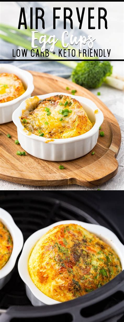 fryer air egg cups vegetables shares mixed cheese