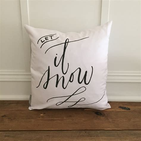 Snow Pillows by Let It Snow Pillow Cover Linen And Ivory
