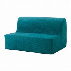 Lycksele havet convertible 2 places vallarum turquoise for Foam convertible sofa bed
