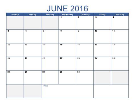 Calnedar Template by June 2016 Printable Calendar Blank Templates Printable