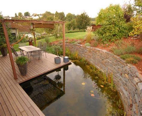 Beckmann Garten Und Landschaftsbau Gmbh Essen by Gestaltung Gartenteichanlage Mit Holzterrasse Cr 228 Mer