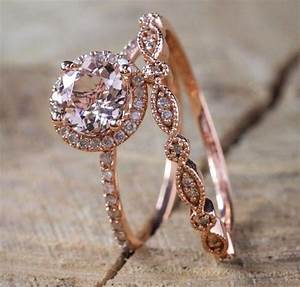 Rose Gold Sprühlack : antique 18k rose gold morganite gemstone ring set wedding women jewelry sz 6 10 ebay ~ Avissmed.com Haus und Dekorationen