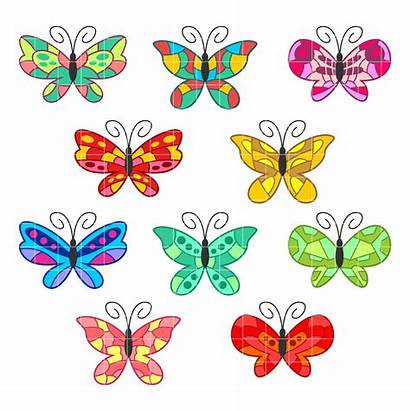 Butterflies Clipart Clip Colorful Butterfly Butterflys Embroidery
