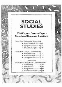 Social Studies Structured Response Questions    Sorted By Theme    Exam Paper  Books  U0026 Stationery
