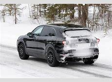 2018 Porsche Cayenne Spied, Shows Active Rear Spoiler