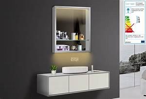 Badezimmer Spiegelschränke Mit Beleuchtung : design badezimmer spiegel spiegelschr nke spiegelregal led beleuchtung lkj60x75 ~ Frokenaadalensverden.com Haus und Dekorationen