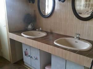Credence Lavabo Salle De Bain : salle de bain au rdc double lavabo baignoire bidet ~ Dode.kayakingforconservation.com Idées de Décoration
