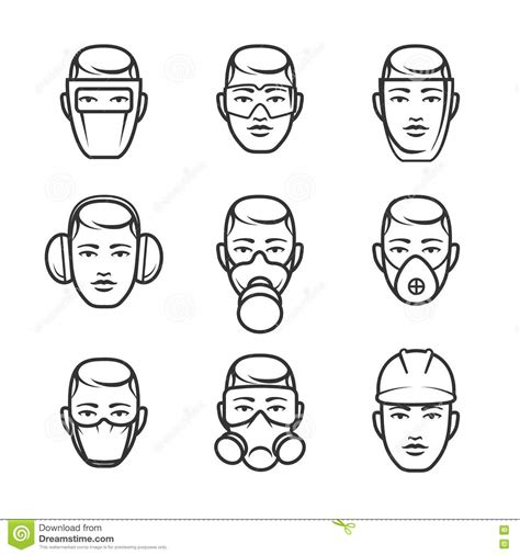 occupational safety icons stock vector image