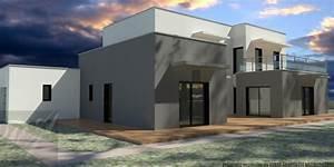 Maison contemporaine cubique a gonfaron une realisation for Couleur facade maison contemporaine 9 maison moderne grise