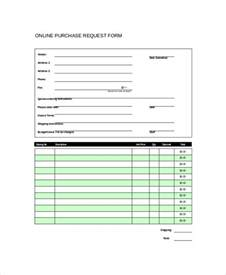 Excel Purchase Request Form Template