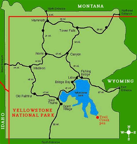 map yellowstone