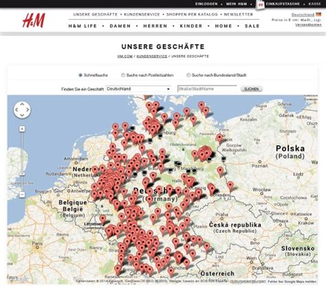 H M Home Filialen by H M Filialen So Funktioniert Der Store Locator