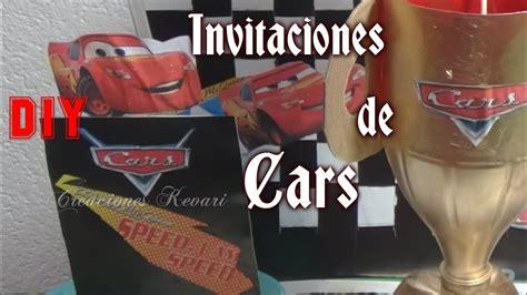 invitaciones de cars diy faciles cars birthday invitations youtube
