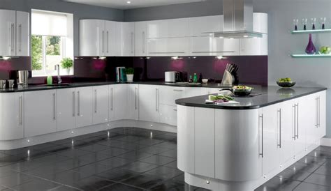 white gloss kitchen ideas white cabinets with contrast cozinhas