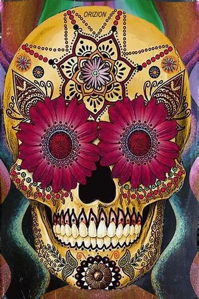 Indie Psychedelic Lsd Drugs Weed Flowers Skull