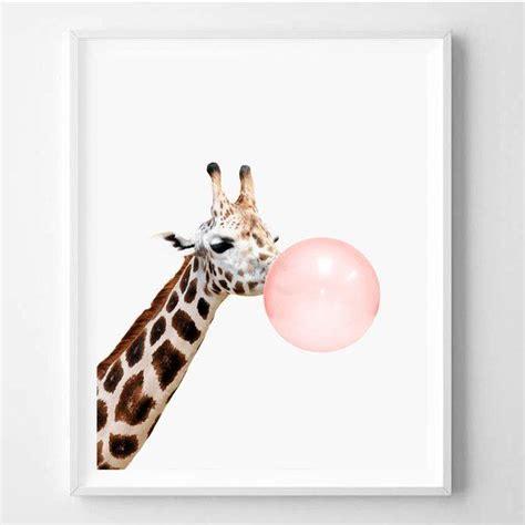Kinderzimmer Deko Giraffe by Giraffe Pink Gum Digital Print