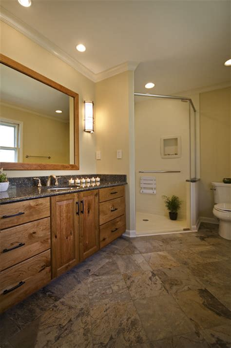 beautiful craftsman style master bathroom traditional