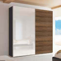 loft two door sliding wardrobe walnut and mirror dwell