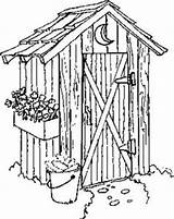 Drawings Outhouse Coloring Hacia Viajar Silencioso Lugar Sketch Template Paseante sketch template