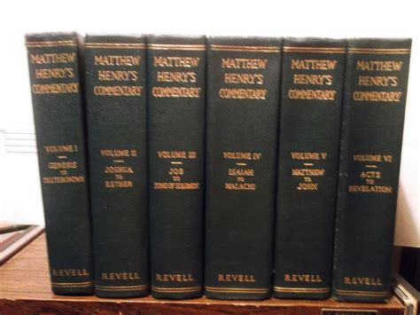 matthew henrys bible commentary  volumes vintage
