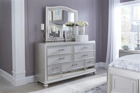 coralayne bedroom   silver finish  ashley furniture