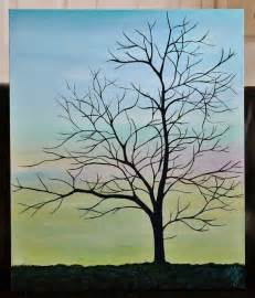 Acrylics On Canvas Tree Painting