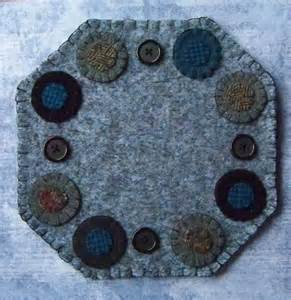 Primitive Wool Penny Rug