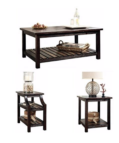 ashley furniture rustic coffee table   tables