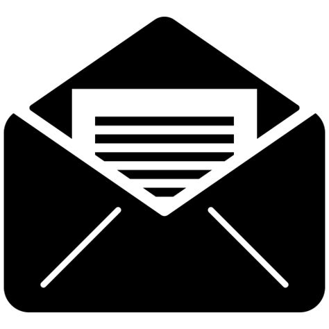 open, mail, outline, Email icon