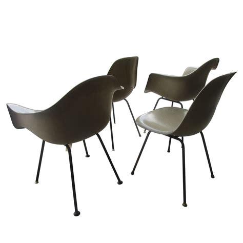 vintage mid century modern fiberglass shell chair eames