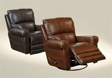 leather glider recliner with catnapper hoffner top grain leather touch swivel glider