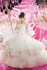 fuchsia wedding dress peachy pink wedding dresses wedding inspirasi