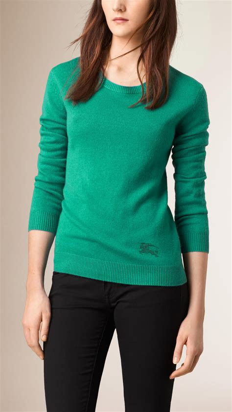 burberry sweater burberry blend sweater in green lyst
