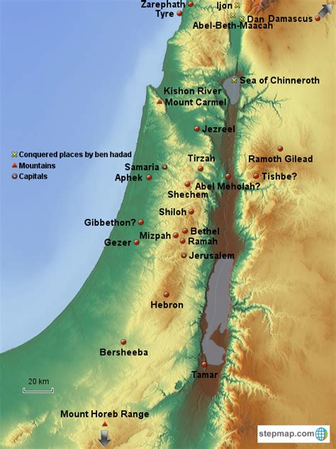 stepmap israel  elijah landkarte fuer asia