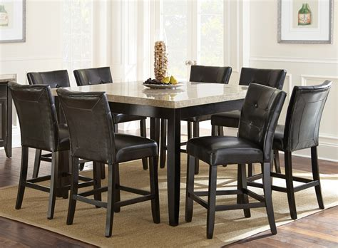 Steve Silver Company Monarch 9piece Counter Height Dining Set