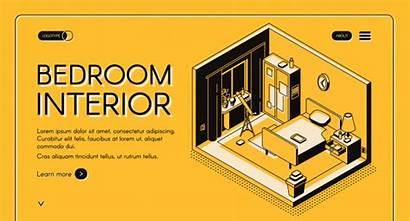 Isometric Interior Vector Furniture Banner Web Landing